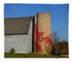 Painted Silo Fleece Blanket