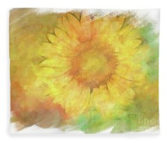 Painted Sunflower Fleece Blanket