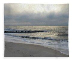 Painted Tracks In The Sand Fleece Blanket