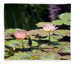 Painted Waters - Lilypond Fleece Blanket