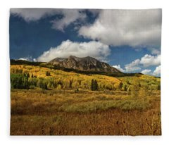 Painterly Kebler Pass Fleece Blanket