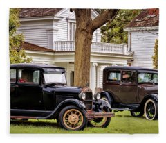 Pair Of Ford Model A  Fleece Blanket