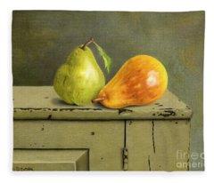 Pair Of Pears Fleece Blanket