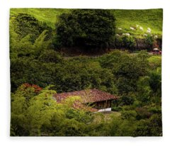 Paisaje Colombiano #6 Fleece Blanket
