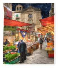 Palermo Market Place Fleece Blanket