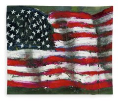 Palette Flag Fleece Blanket