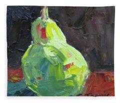 Pallette Knife Pear Fleece Blanket