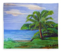 Palm By Arecibo Fleece Blanket