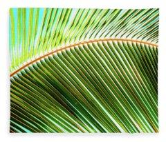 Palm Frond Sway Fleece Blanket