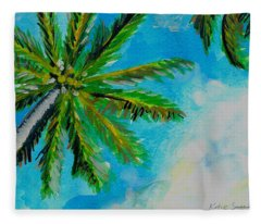 Palm In The Sky Fleece Blanket