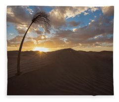 Palm On Dune Fleece Blanket