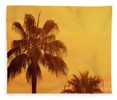 Palm On Tropical Island Fleece Blanket
