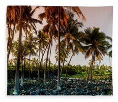 Palm Pathway Fleece Blanket