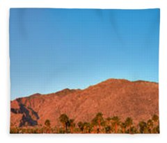 Palm Springs Sunrise Fleece Blanket