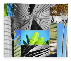 Palm Tree Parts Fleece Blanket