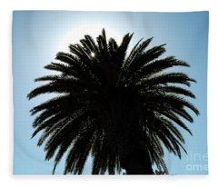 Palm Tree Silhouette Fleece Blanket