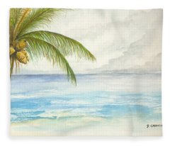 Palm Tree Study Fleece Blanket