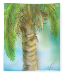 Palm Tree Study Two Fleece Blanket