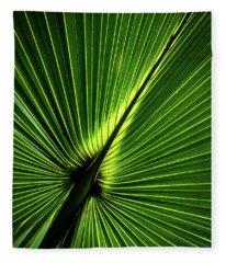 Palm Tree With Back-light Fleece Blanket
