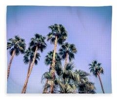 Palm Trees Palm Springs Summer Fleece Blanket