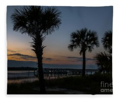 Palmetto Sky Fleece Blanket