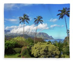 Palms At Hanalei Fleece Blanket