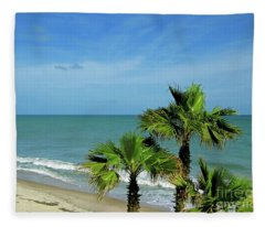 Palms At Vero Beach Fleece Blanket