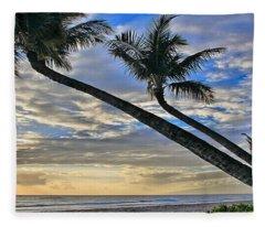 Palms Of Kaanapali Fleece Blanket