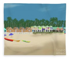 Palolem Beach Goa Fleece Blanket