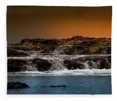 Palos Verdes Coast Fleece Blanket