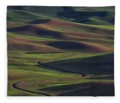 Palouse Abstract 1 Fleece Blanket