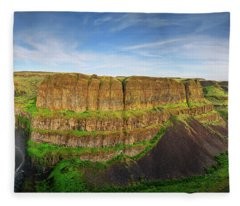 Palouse Falls Canyon Fleece Blanket