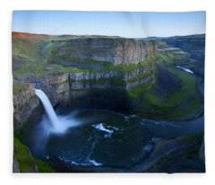 Palouse Falls Dusk Fleece Blanket