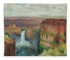 Palouse Falls  Fleece Blanket