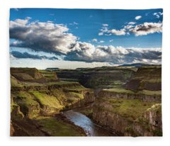 Palouse River Canyon Fleece Blanket
