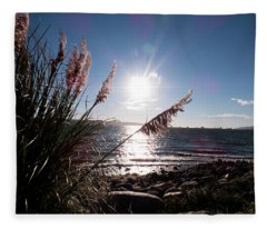 Pampas By The Sea Fleece Blanket
