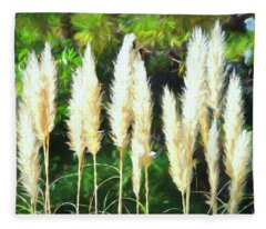 Pampas Grass In Bloom Fleece Blanket