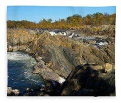 Pan Of The Potomac Fleece Blanket