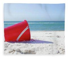 Panama Beach Florida Sandy Beach Fleece Blanket