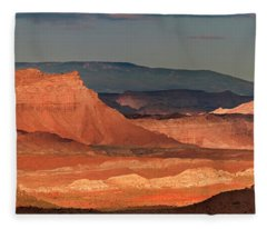 Panorama Dawn Light On The San Rafael Swell Utah Fleece Blanket