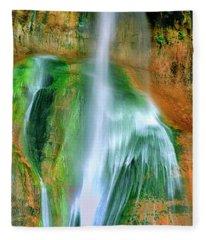 Panorama Lower Calf Creek Falls Escalante Nm Utah Fleece Blanket
