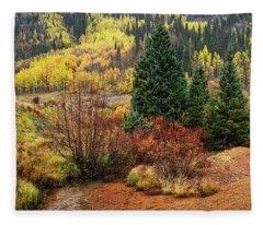Panorama Of Color Fleece Blanket