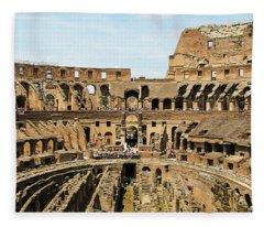 Inside The Colosseum Fleece Blanket