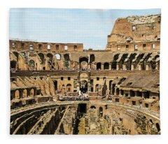 Inside The Colosseum Fleece Blanket