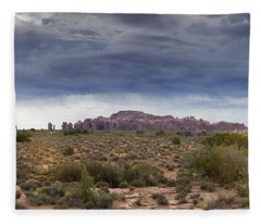 Panoramic View At Arches National Park Fleece Blanket
