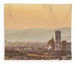 Panorama Of Florence Fleece Blanket