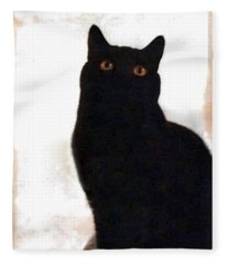 Panther The British Shorthair Cat Fleece Blanket