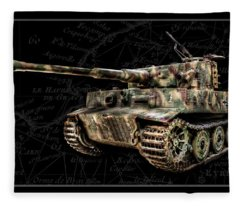 Panzer Tiger I Side Bk Bg Fleece Blanket
