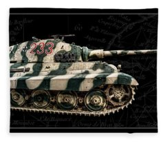 Panzer Tiger II Side Bk Bg Fleece Blanket