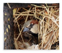 Papa Bird Fleece Blanket